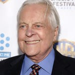 "Television personality Robert Osborne attends the ""Cabaret"" 40th anniversary screening, at the Ziegfeld Theatre on Thursday, Jan. 31, 2013 in New York. (Photo by Andy Kropa/Invision/AP)"