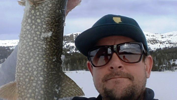 Drew Meteer caughta nice mackinaw at Caples Lake Resort