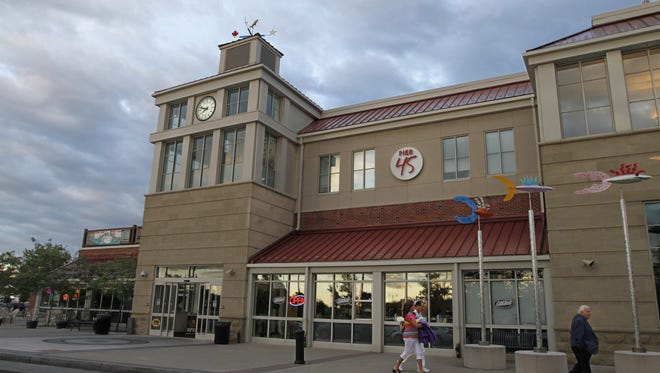 File photo: The Terminal building at the Port of Rochester, including a sign for the defunct restaurant Pier 45.