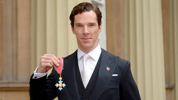 Benedict Cumberbatch after receiving the CBE (Commander