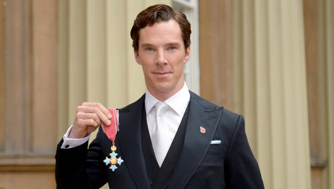 Benedict Cumberbatch after receiving the CBE (Commander of the Order of the British Empire) from Queen Elizabeth II at Buckingham Palace on Nov. 10, 2015.