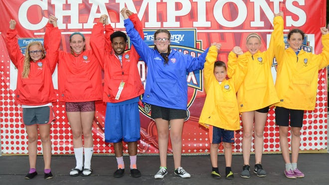 The champions of the 80th All-American Soap Box Derby pose for a photo