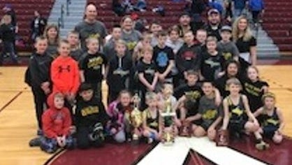 The Michigan Matcats won several trophies at Michigan USA Wrestling Duals at Alma College.