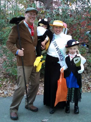 Mary Poppins Family - Katherine Crawford, my husband, Stuart Dodson, and my daughters Wylie and Willa.