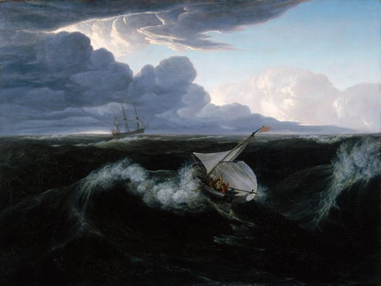 """Washington Allston painted """"Rising of a Thunderstorm"""