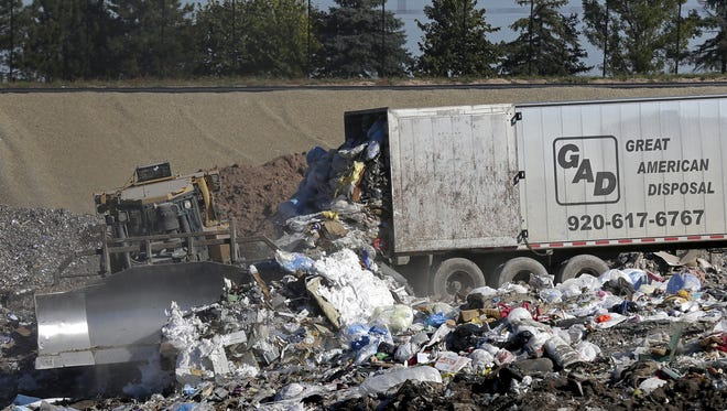 The Outagamie County Landfill in Appleton. Brown and Outagamie county officials are locked in a dispute about the cost of the disposing of paper sludge at the landfill.