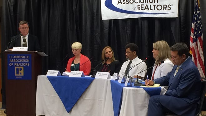 The July 12 debate hosted by the Clarksville Association of Realtors.