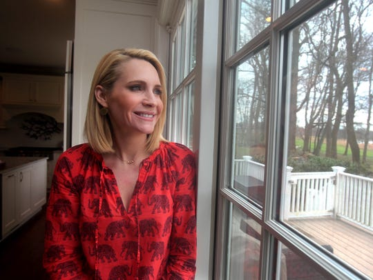 Andrea Canning, a correspondent for NBC News at her Rye home