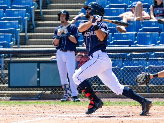 Rumble Ponies infielder Levi Michael has a career-high 10 home runs this season.
