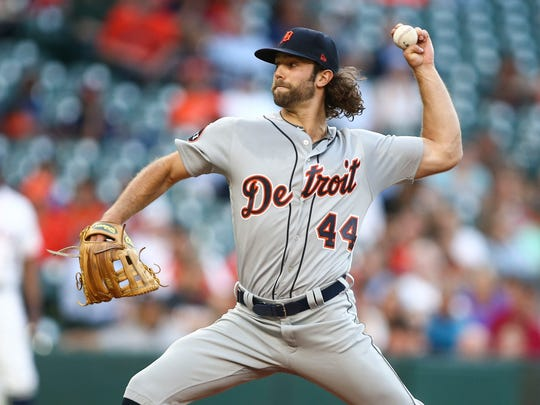 May 24, 2017; Houston, TX, USA; Tigers starting pitcher Daniel Norris delivers a pitch during the first inning against the Astros at Minute Maid Park.