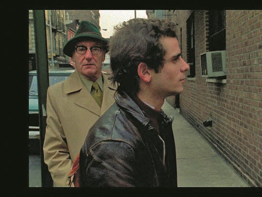 William S. Burroughs, left, in a scene from the documentary