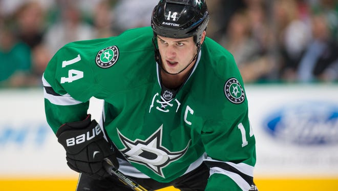Stars captain Jamie Benn has  been the team's statistical leader in the early going this season.