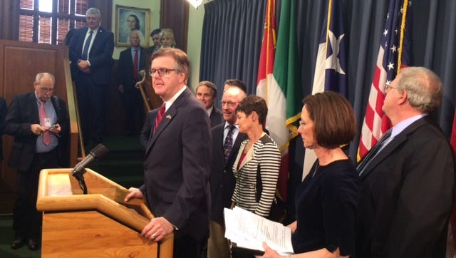 "Lt. Gov. Dan Patrick defends Senate Bill 6, dubbed the ""bathroom bill,"" against assertions it would harm the Texas economy."