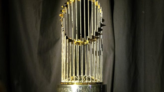 The World Series trophy was on display in the Palm Beach County Convention Center last month when West Palm Beach Mayor Keith James gave the annual State of the City address.