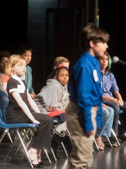 Fifth-grader spellers take the stage during the 42nd