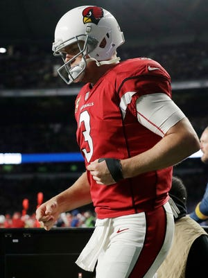 Carson Palmer said he regrets that his last game was a Cardinals blowout loss to the Rams in London.