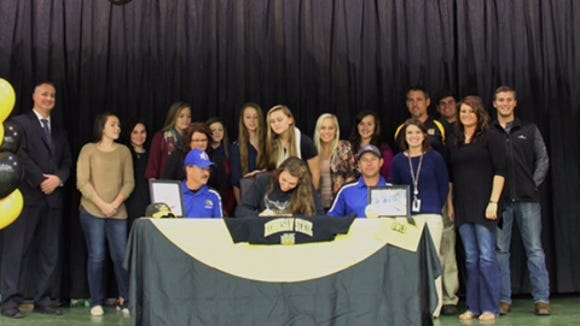 Hiwassee Dam senior Haylie Shope has signed to play college softball for Kennesaw State (Ga.).
