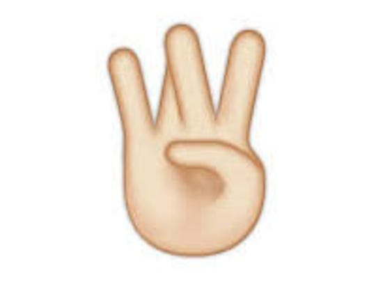 """W"" hand emoji"