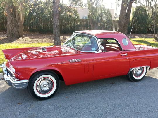 1957 Ford Thunderbird E-Code convertible.