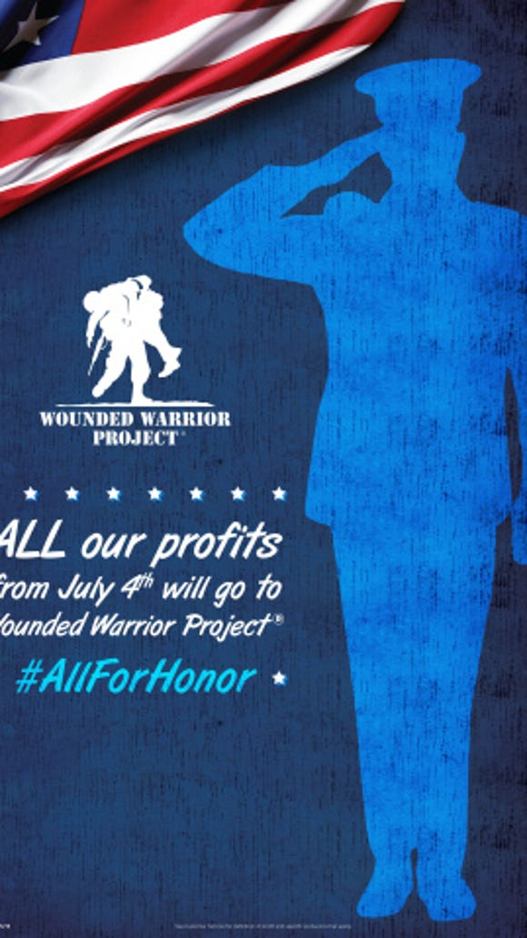Southeastern Grocers, which includes Bi-Lo, will donate all profits to the Wounded Warrior Project on July 4th.