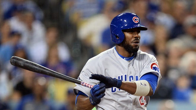 Dexter Fowler is the first black man ever wearing a Cubs uniform participated in a World Series game.
