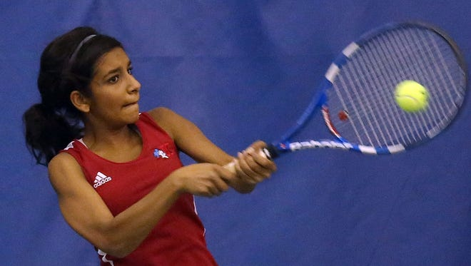 Incoming Xavier player Amina Ismail of Kings (pictured) faces XU's Kaitlyn Zinn on Thursday in the Women's Met semifinals.