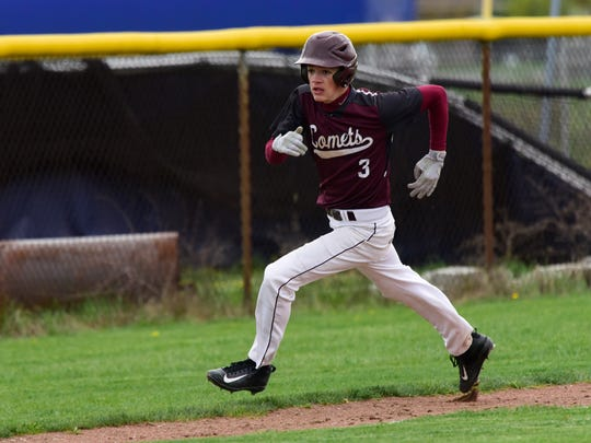 Sam Sutter singled in the fourth inning and scored during a three-run extra-inning rally in Genoa's win over Woodmore.