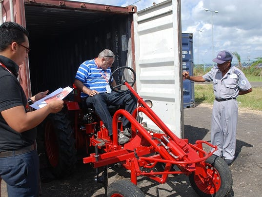 American Tractor in Cuba