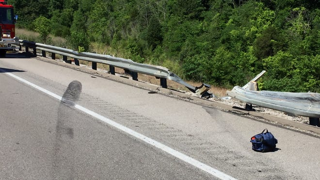 Scene of a fatal crash Tuesday in Boone County.