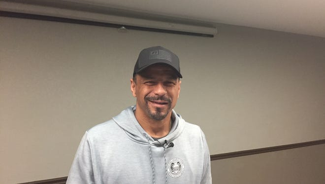 Hall of Fame defensive back Rod Woodson gave the keynote address at the Bobcats Triangle Classic Friday night at the Four Seasons Arena.