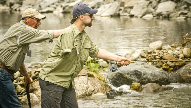 Project Healing Waters uses fly-fishing to help veterans.