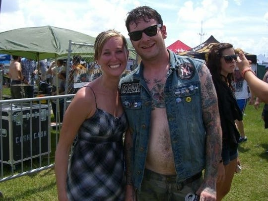 Laurie K. Blandford met Buddy Nielsen after his band, Senses Fail, performed at the Vans Warped Tour in 2009.