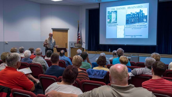 Mike Gilbert discusses local history during one of his History Roundtable sessions last year. His popular series returns this fall to the Hayes Presidential Library and Museums starting Sept. 16.