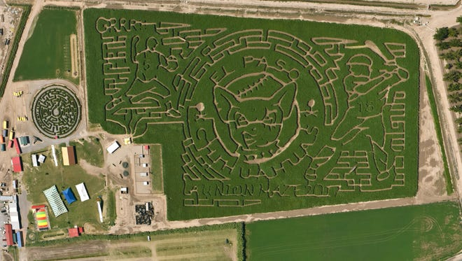 The La Union Maze 2017 is all Grrrrr about the Chihuahuas and is waiting to see wwho can comeout and find the baseball diamond.