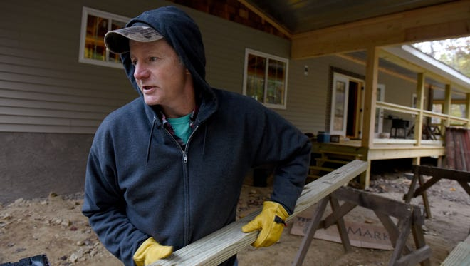 Kevin McCarter and his family lost their home in last year's deadly Gatlinburg wildfires. Since then, they've moved three times and broken ground on their new home.