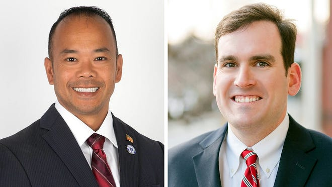 Incumbent state Sen. Dean Tran, left, a Republican from Fitchburg, faces a challenge from John Cronin, a Democrat from Lunenburg.