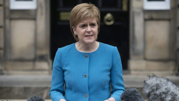 This file photo taken on June 25, 2016 shows  Scotland's