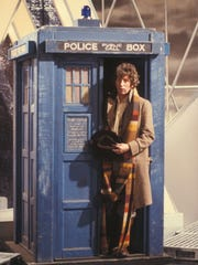 "Tom Baker, with his trademark long scarf, portrayed the title character in the long-running British series ""Doctor Who"" from 1974 to 1981."