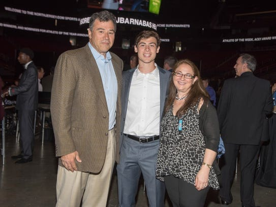 Austin Albericci with parents Robert and Christine