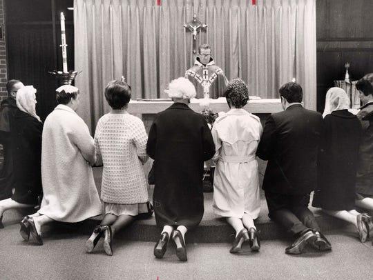 The Rev. Mark Dittami celebrating Mass at the chapel