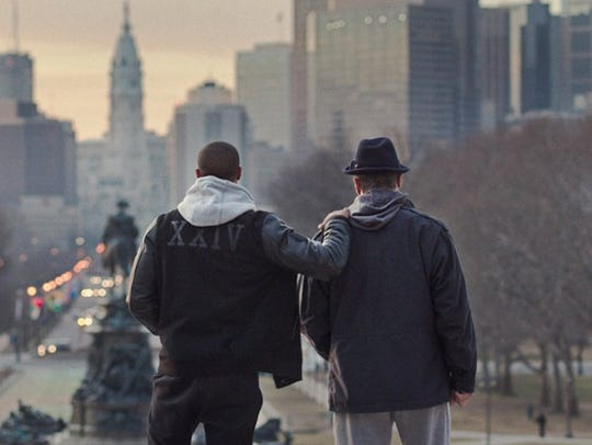 "Sylvester Stallone and Michael B. Jordan in ""Creed."""