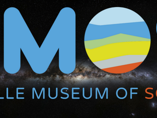 Asheville Museum of Science logo.