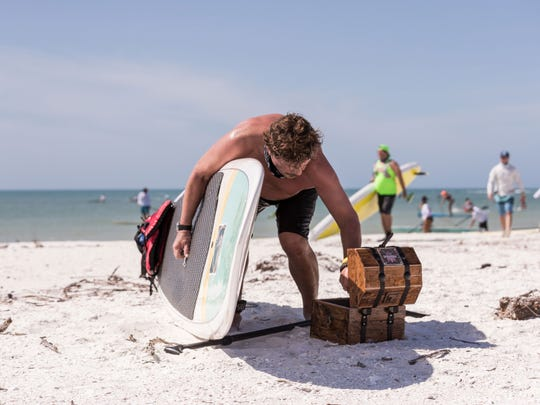 A photo from the inaugural Red Bull Privateers Stand Up Paddle Race.