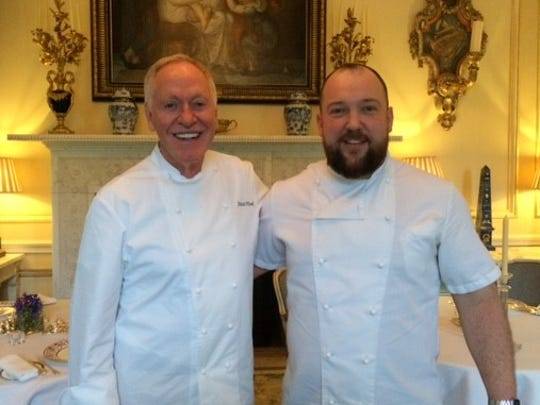 Chef Patrick O'Connell of the Inn at Little Washington in Virginia (left) and Chef Sam Moody of Ballyfin, both Michelin Star chefs.