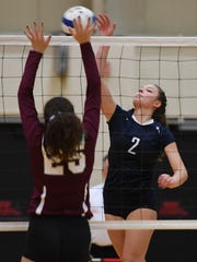 Gianna Fasano (2), shown in a 2017 State Tournament of Champions match, is one of the players that has helped NV/Old Tappan return to the Bergen County girls volleyball quarterfinals.