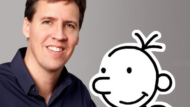'Diary of a Wimpy Kid' author Jeff Kinney with his cartoon pal Greg Heffley.
