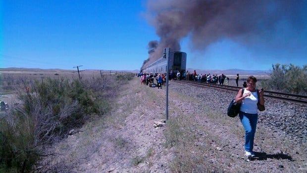 The scene of the Amtrak train crash near Fallon on June 24, 2011.