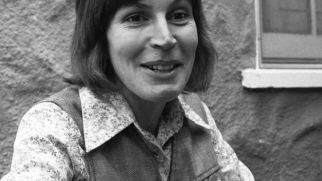 """FILE - In this Oct. 27, 1977, file photo, Ms. Helen Reddy, composer-singer of what has become a marching song for Women's lib, tells of mail she gets from housewives, who say the best-selling record -- """"I Am Woman""""--bucks them up. Reddy, the Australian-born singer who scored an enduring hit with her feminist anthem """"I Am Woman,"""" has died at 78 in Los Angeles. Reddy's children announced their mother's death Tuesday evening, Sept. 29, 2020, saying that while they are heartbroken, they """"take comfort in the knowledge that her voice will live on forever."""""""