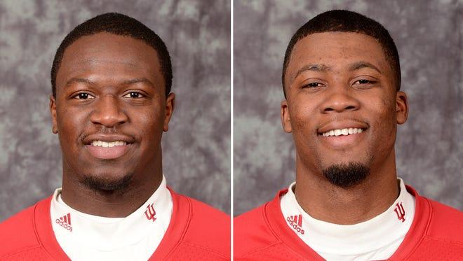 New Hoosiers football players Jordan Howard (left) and Marqui Hawkins (right).