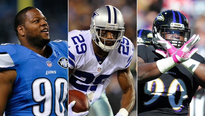 Ndamukong Suh, DeMarco Murray and Pernell McPhee figure to get plenty of interest in free agency.